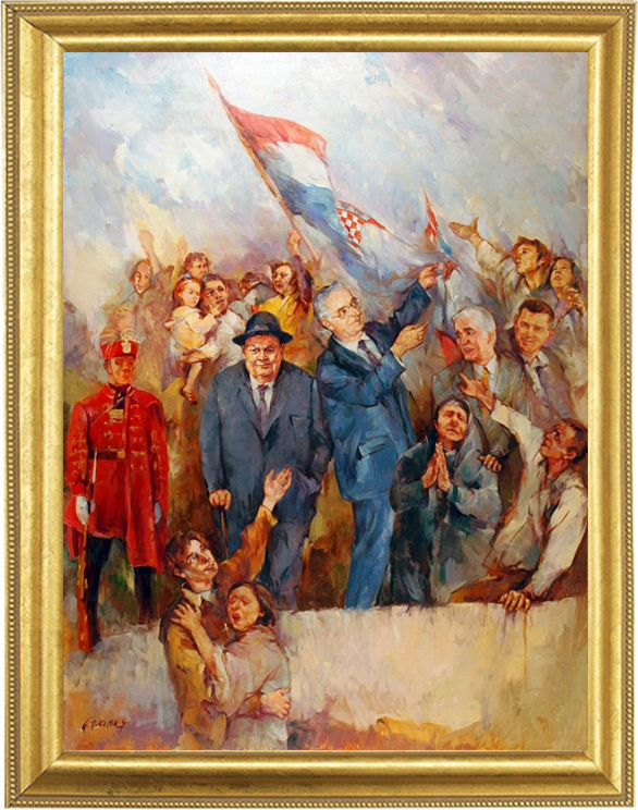 Gorazd Bezjak - Raising the flag on Knin fortress